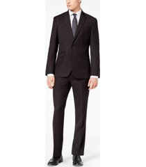 kenneth cole reaction men's ready flex slim-fit stretch black tic suit