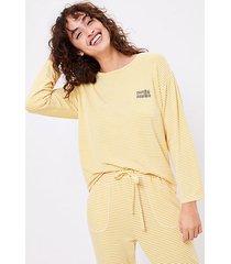 loft petite striped pajama top