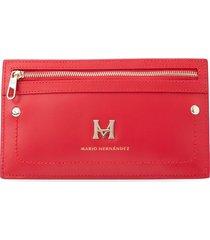 billetera pouch horizontal rojo cayena hera