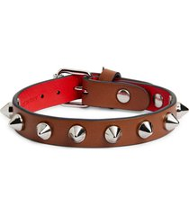 women's christian louboutin loublink studded leather bracelet