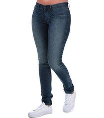 diesel womens livier super slim jegging jeans size 28 inch in blue