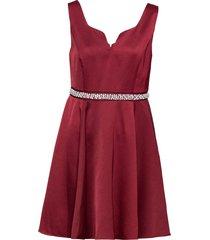 abito con perle e strass (rosso) - bodyflirt