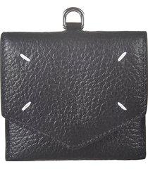 maison margiela pebble grain leather belt wallet