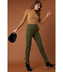 na-kd trend ankle strap detailed pants - green