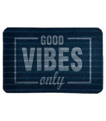 capacho carpet good vibes only azul único love decor