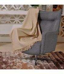 manta capa sofa algodão favo 1,20m x 1,50m bege - tessi