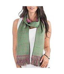 reversible cotton scarf, 'bougainvillea' (guatemala)
