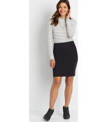 maurices womens black high rise ponte ponte pencil skirt