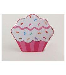 bolsa infantil cupcake transversal rosa