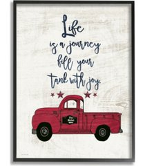 "stupell industries fill your tank with joy vintage-inspired truck illustration framed giclee art, 11"" x 14"""