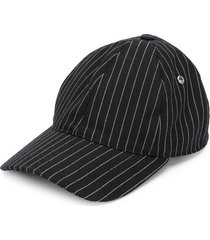 ami striped baseball cap - black