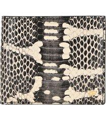 tom ford snakeskin-print bifold wallet