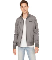 chaqueta g factory robert nylon jacket gris guess