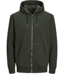 jack & jones men's long sleeve full zip hoodie