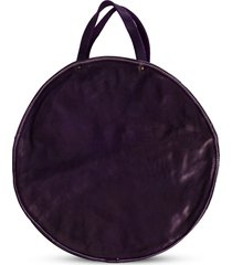 guidi round shaped shoulder bag - purple
