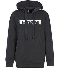 hogan rear zipped logo hoodie