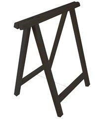 cavalete em madeira reforçado 75x80cm preto