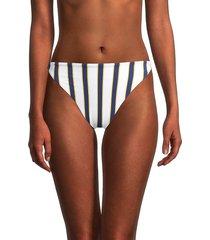 weworewhat women's amber striped bikini bottom - white - size xl