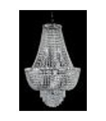 lustre de cristal 12 lâmpadas transparente fg elizabeth bivolt