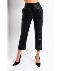 akira luxe faux leather straight leg trouser