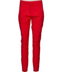classic long pants - stella byxa med raka ben röd coster copenhagen