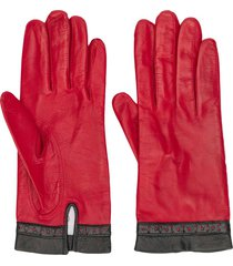 céline pre-owned 1980/1990s pre-owned perforated detail gloves - red