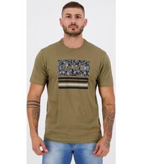 camiseta hurley silk boardlines verde militar - masculino