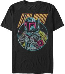 star wars men's classic boba fett blaster short sleeve t-shirt