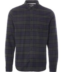 norse projects anton brushed flannel check   black watch   n40-0535