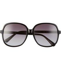 longchamp 58mm rectangle sunglasses in black/grey gradient at nordstrom