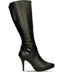 botas negro bata genta mujer