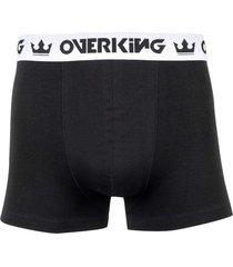 cueca overking boxer preto / branco - preto - masculino - dafiti