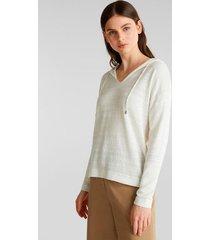 sweater con capucha blanco esprit