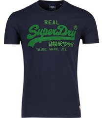 donkerblauw t-shirt superdry
