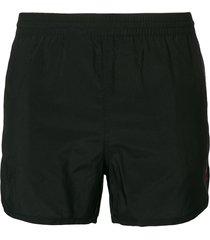 ami paris ami de coeur swim shorts - black