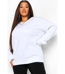 plus basic oversized sweater, white