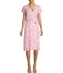 bethwyn floral wrap dress
