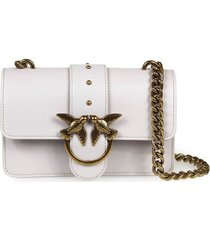pinko love mini icon simply c light grey crossbody bag