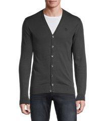 roberto cavalli men's v-neck cardigan sweater - grey - size xl