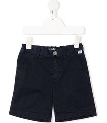 il gufo fitted denim shorts - blue