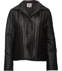 deni jacket leren jack leren jas zwart stand studio