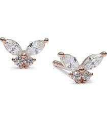 diana m jewels women's 14k rose gold & 0.31 tcw diamond stud earrings