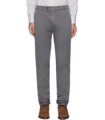 slim fit tailored cotton pants