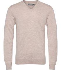 lymann merino v-neck sweater gebreide trui v-hals beige j. lindeberg