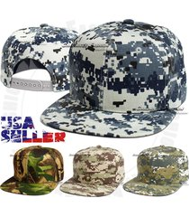 baseball snapback cap flat bill tactical outdoor camouflage adjustable hat mens