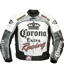new handmade corona extra racing leather jacket, men jackets