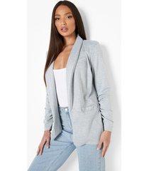 tall baggy blazer, grey