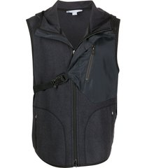 y-3 snap-buckle gilet - grey