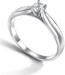 anillo compromiso solitario casual plata arany joyas