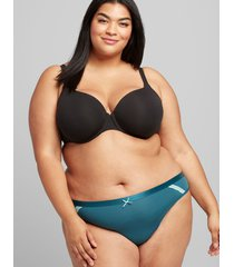 lane bryant women's extra soft thong panty 14/16 legion blue